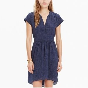 Madewell Silk Fable Dress in Leaf Shade 0